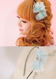 <b>Mesh Ribbon Headband</b> <br> handmade <br> 11,000 won