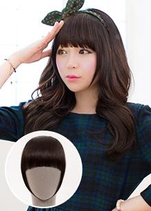 """EN wig <br> <b>Human hair cute EN</b> <br> Bang Style <br> (5 colors) <br> <span class=""""detail_list"""">Human hair 100%</span> <br> 22,500 won"""
