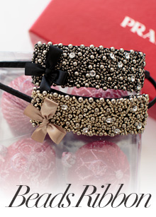 <b>Beads bowknot hairband</b> <br> handmade <br> 10,000 won