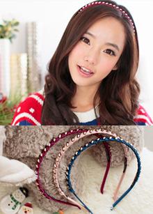 <b>cubic spiral hairband</b> <br> handmade <br> 10,000 won